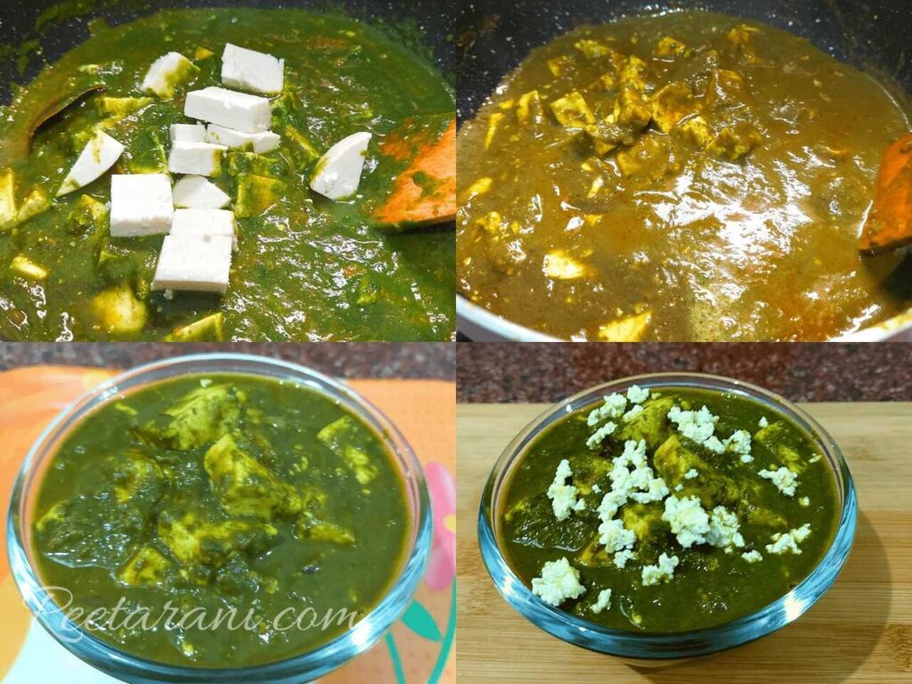 spinach and paneer curry