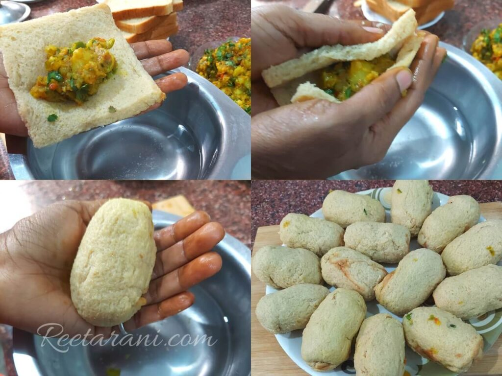 how to make bread roll in hindi