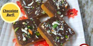 Easy chocolate burfi sweet recipe in hindi