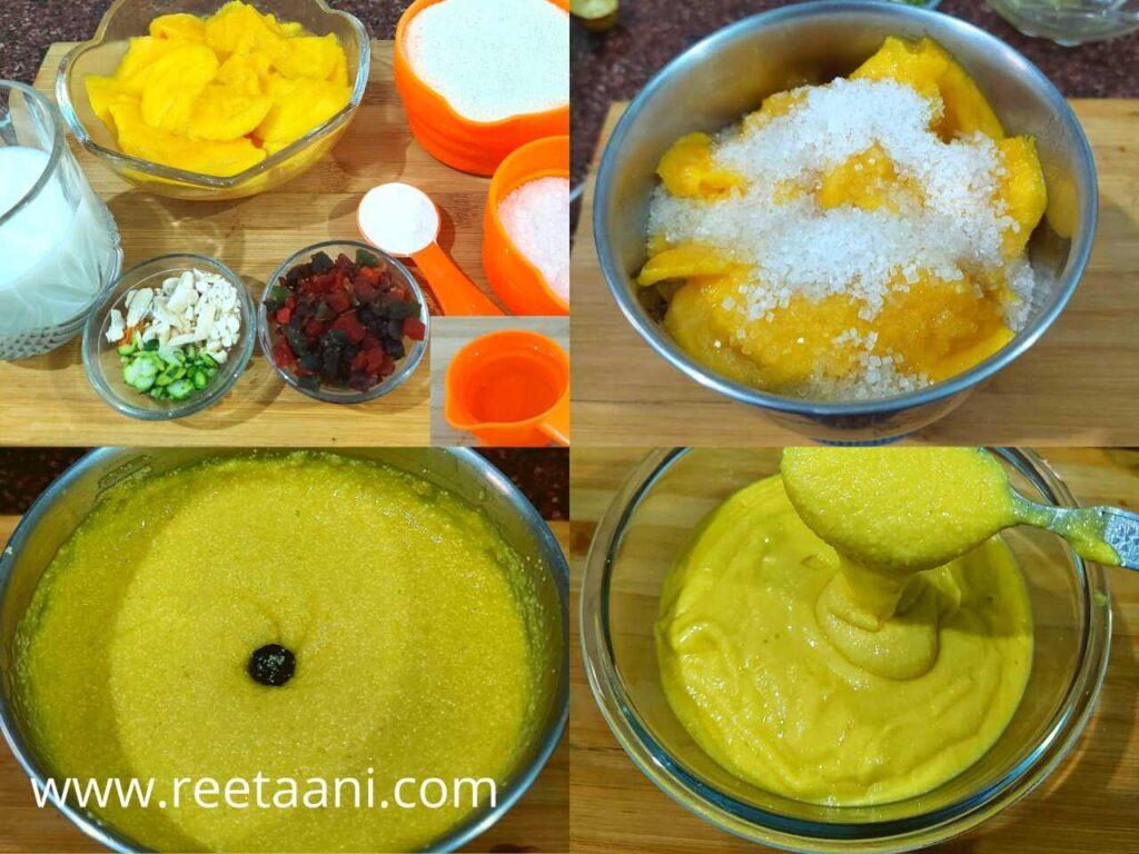 Ingredients For Mango Rava Cake Recipe