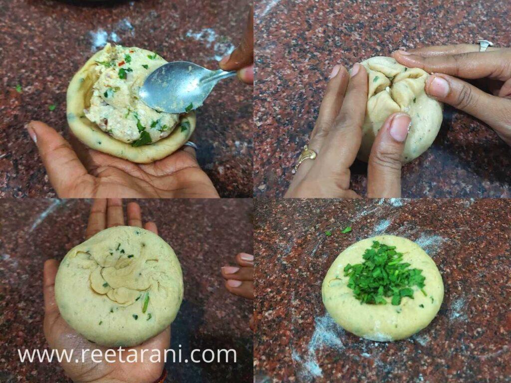 Stuffing of Chur Chur Naan