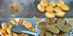 Boiled and Fried Litti Recipe